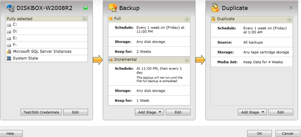 Image showing the Backup Properties window
