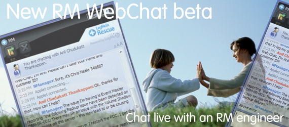Click to find out about RM WebChat beta