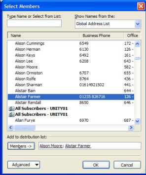 how to create a distribution list in outlook 2003
