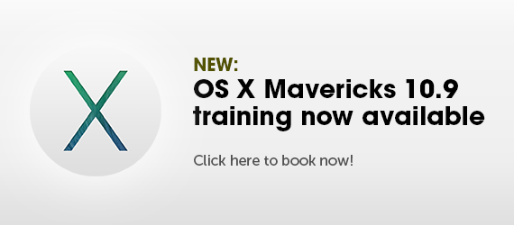 Find out how you can book a place on our new OS X Mavericks 10.9 training courses