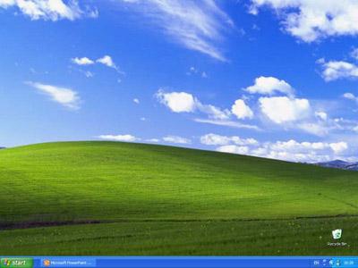 Click on the Windows XP Start