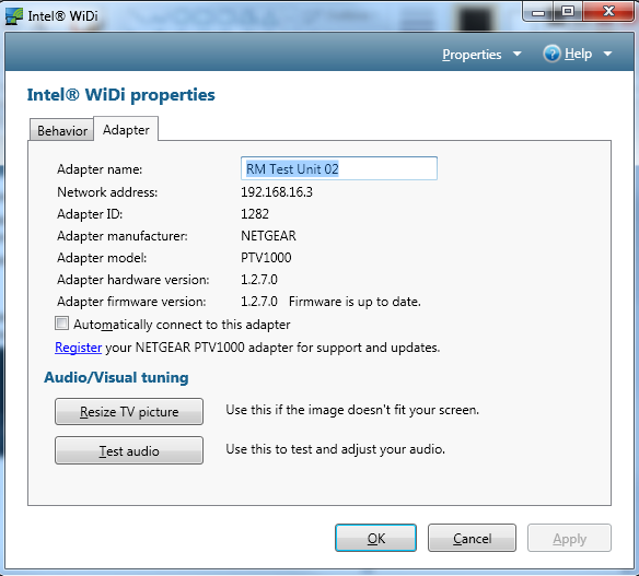 How to configure your notebook to use the NETGEAR 1000PVT