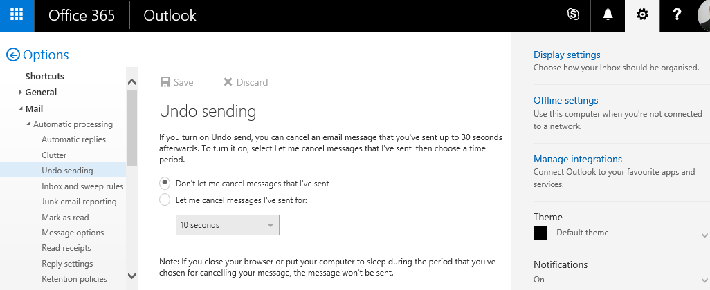 Emails take a long time to send when using Outlook Web App in