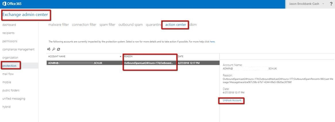Sender's email is rejected and\or marked as spam by Office 365